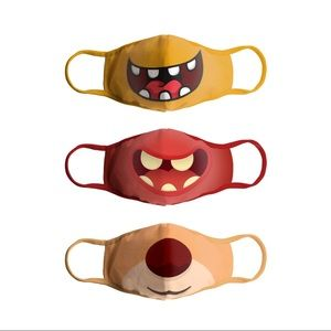 Three Super Soft Children Kids Face Mask